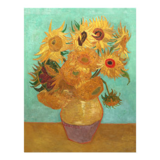 Vincent Van Gogh Twelve Sunflowers In A Vase 21.5 Cm X 28 Cm Flyer