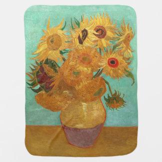 Vincent Van Gogh Twelve Sunflowers In A Vase Pramblanket