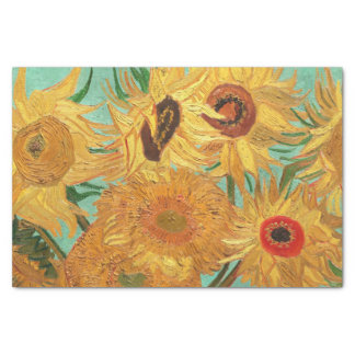 Vincent Van Gogh Twelve Sunflowers In A Vase Tissue Paper