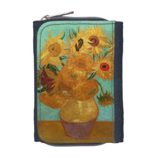 Vincent Van Gogh Twelve Sunflowers In A Vase Wallet