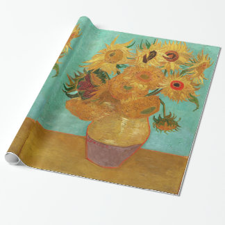 Vincent Van Gogh Twelve Sunflowers In A Vase Wrapping Paper