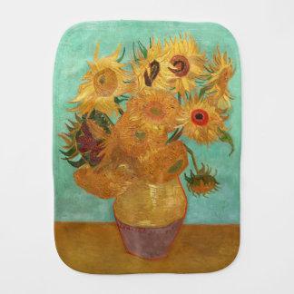 Vincent Van Gogh Twelve Sunflowers In A Vase Baby Burp Cloths