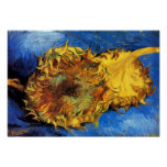 Vincent Van Gogh - Two Cut Sunflowers - Fine Art Poster
