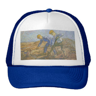 Vincent Van Gogh - Two Peasants Digging Cap