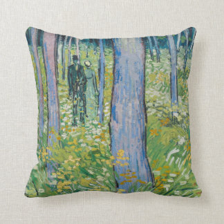 Vincent van Gogh - Undergrowth with Two Figures Cushion