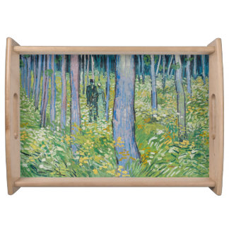 Vincent van Gogh - Undergrowth with Two Figures Serving Tray