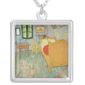 Vincent van Gogh   Van Gogh's Bedroom at Arles Silver Plated Necklace