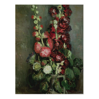 Vincent van Gogh   Vase of Hollyhocks, 1886 Postcard
