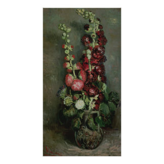 Vincent van Gogh | Vase of Hollyhocks, 1886 Poster