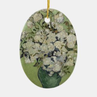 Vincent Van Gogh Vase of Roses Painting Floral Art Ceramic Oval Decoration