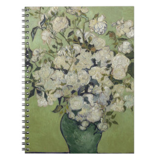 Vincent Van Gogh Vase of Roses Painting Floral Art Notebook
