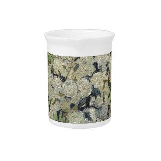 Vincent Van Gogh Vase of Roses Painting Floral Art Pitcher