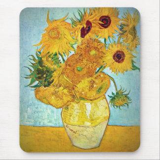 Vincent van Gogh - Vase with 12 Sunflowers Mouse Mat