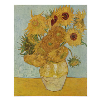 Vincent Van Gogh Vase With 12 Sunflowers Poster