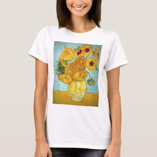Vincent van Gogh - Vase with 12 Sunflowers T-Shirt