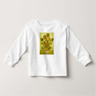 Vincent Van Gogh Vase With Fifteen Sunflowers 1888 Toddler T-Shirt