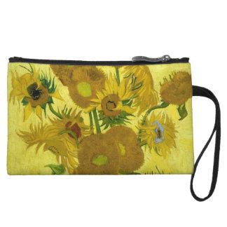 Vincent Van Gogh Vase With Fifteen Sunflowers 1888 Wristlet Purse