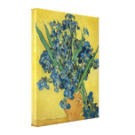 Vincent Van Gogh Vase With Irises Gallery Wrap Canvas