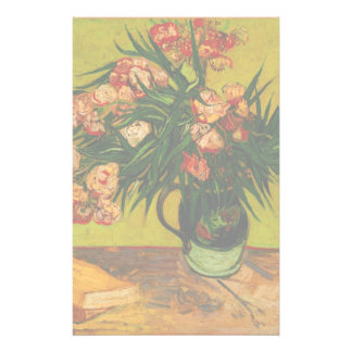 Vincent Van Gogh Vase With Oleanders And Books Personalized Stationery