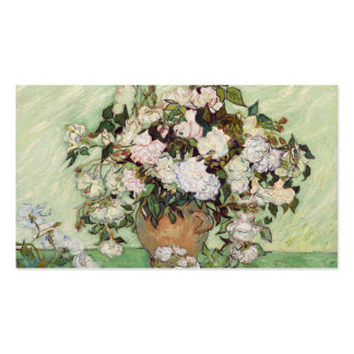Vincent Van Gogh Vase With Pink Roses Business Card Templates