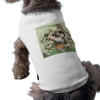 Vincent Van Gogh Vase With Pink Roses Floral Art Sleeveless Dog Shirt