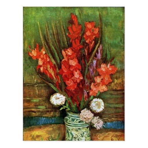 Vincent van Gogh - Vase with Red Gladioli Post Card