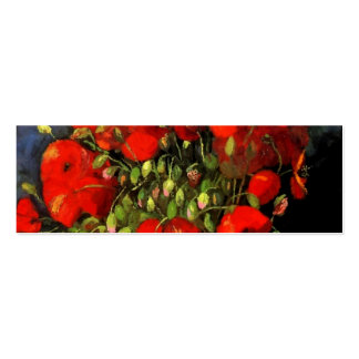 Vincent Van Gogh Vase With Red Poppies Business Card Templates