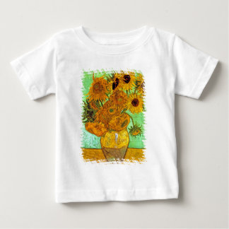 Vincent Van Gogh - Vase With Twelve Sunflowers Baby T-Shirt