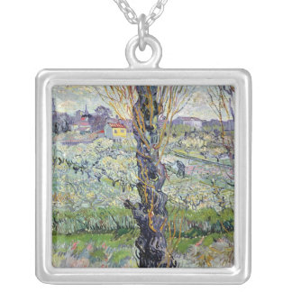 Vincent van Gogh   View of Arles, 1889 Silver Plated Necklace