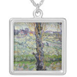 Vincent van Gogh | View of Arles, 1889 Square Pendant Necklace
