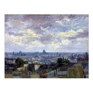 Vincent van Gogh View of Paris Postcard