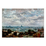 Vincent Van Gogh - View Of The Roofs Of Paris Poster