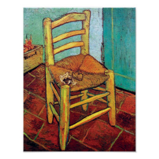 Vincent Van Gogh - Vincent's Chair With Pipe Poster