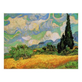 Vincent van Gogh Wheat Field, Post Impressionism Poster