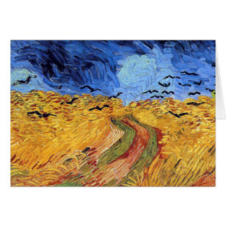 Vincent Van Gogh - Wheat Field with Black Crows Card