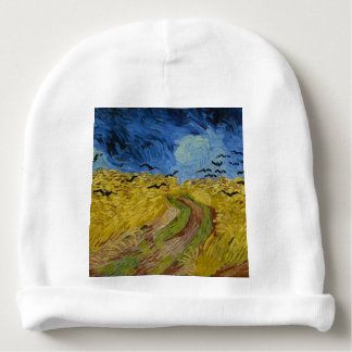 Vincent Van Gogh - Wheat Field with Crows Painting Baby Beanie