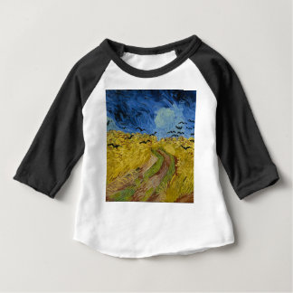 Vincent Van Gogh - Wheat Field with Crows Painting Baby T-Shirt