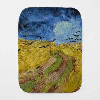 Vincent Van Gogh - Wheat Field with Crows Painting Burp Cloth
