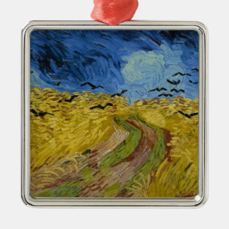 Vincent Van Gogh - Wheat Field with Crows Painting Christmas Ornament