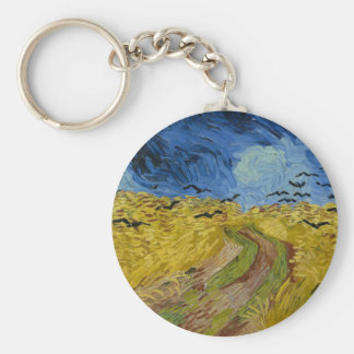 Vincent Van Gogh - Wheat Field with Crows Painting Key Ring