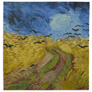 Vincent Van Gogh - Wheat Field with Crows Painting Napkin