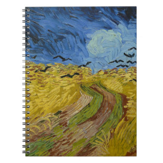 Vincent Van Gogh - Wheat Field with Crows Painting Notebook