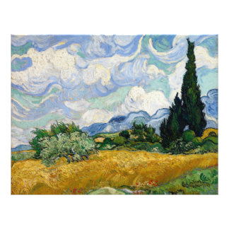 Vincent Van Gogh Wheat Field With Cypresses 21.5 Cm X 28 Cm Flyer