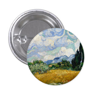 Vincent Van Gogh Wheat Field With Cypresses 3 Cm Round Badge