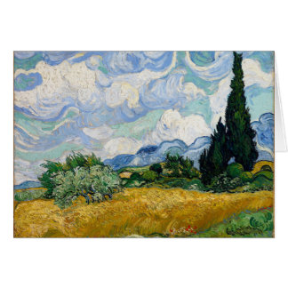 Vincent Van Gogh Wheat Field with Cypresses Art Card