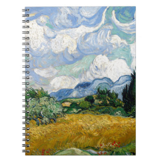 Vincent Van Gogh Wheat Field with Cypresses Art Notebook