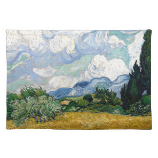 Vincent Van Gogh Wheat Field with Cypresses Art Placemat