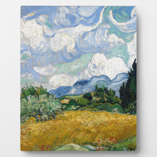 Vincent Van Gogh Wheat Field with Cypresses Art Plaque