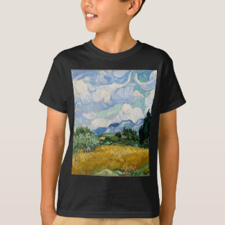 Vincent Van Gogh Wheat Field with Cypresses Art T-Shirt