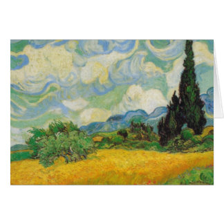 Vincent Van Gogh - Wheat Field with Cypresses Card